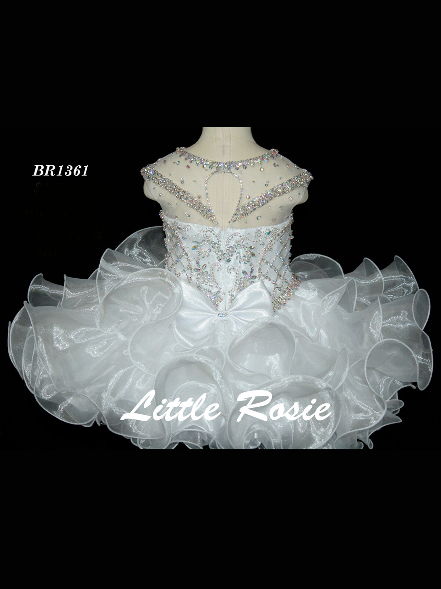 Illusion Neckline Pageant Dress Little Rosie Baby BR1361