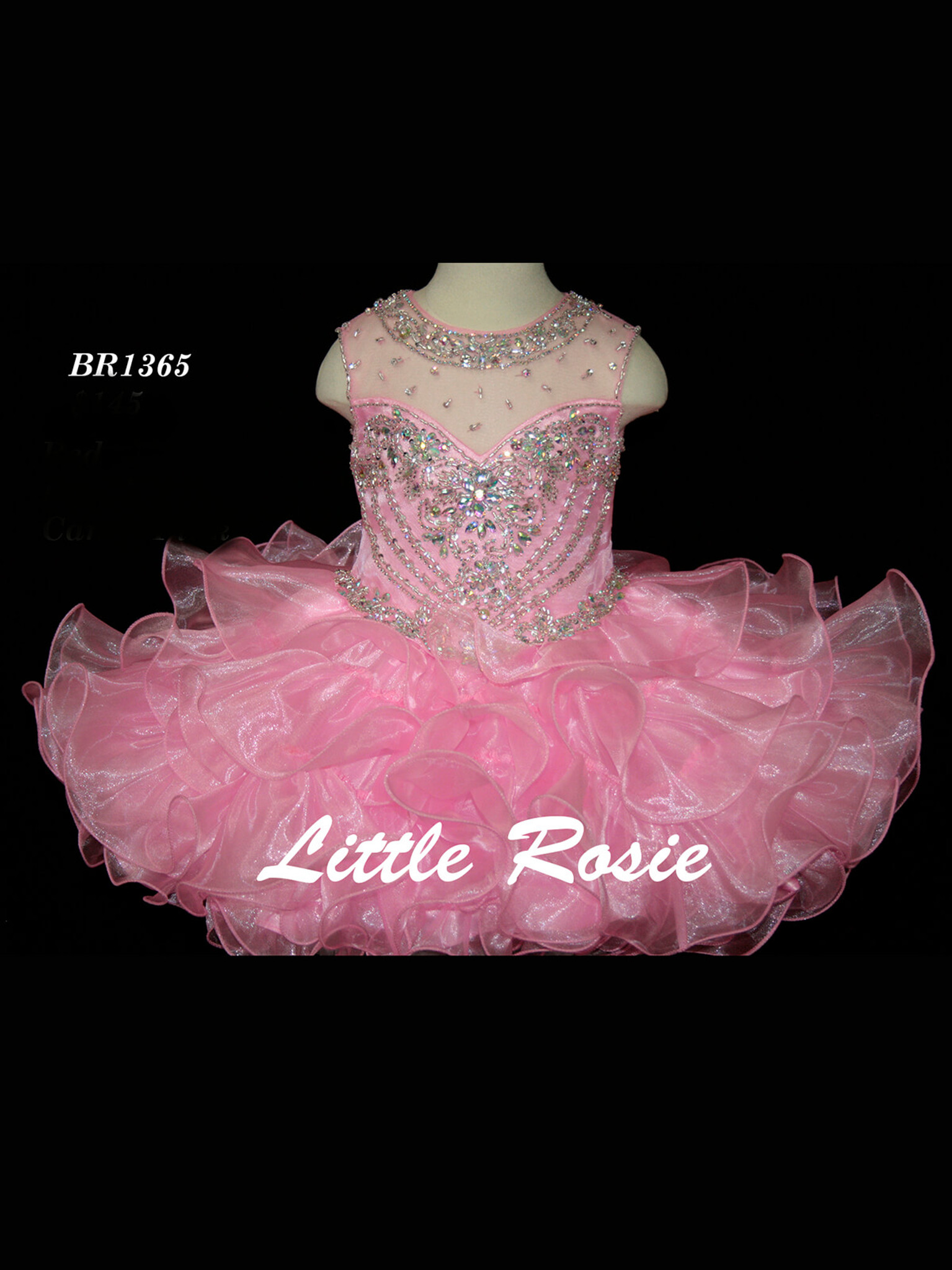 Organza Little Rosie Baby BR1365 Pageant Dress PageantDesigns