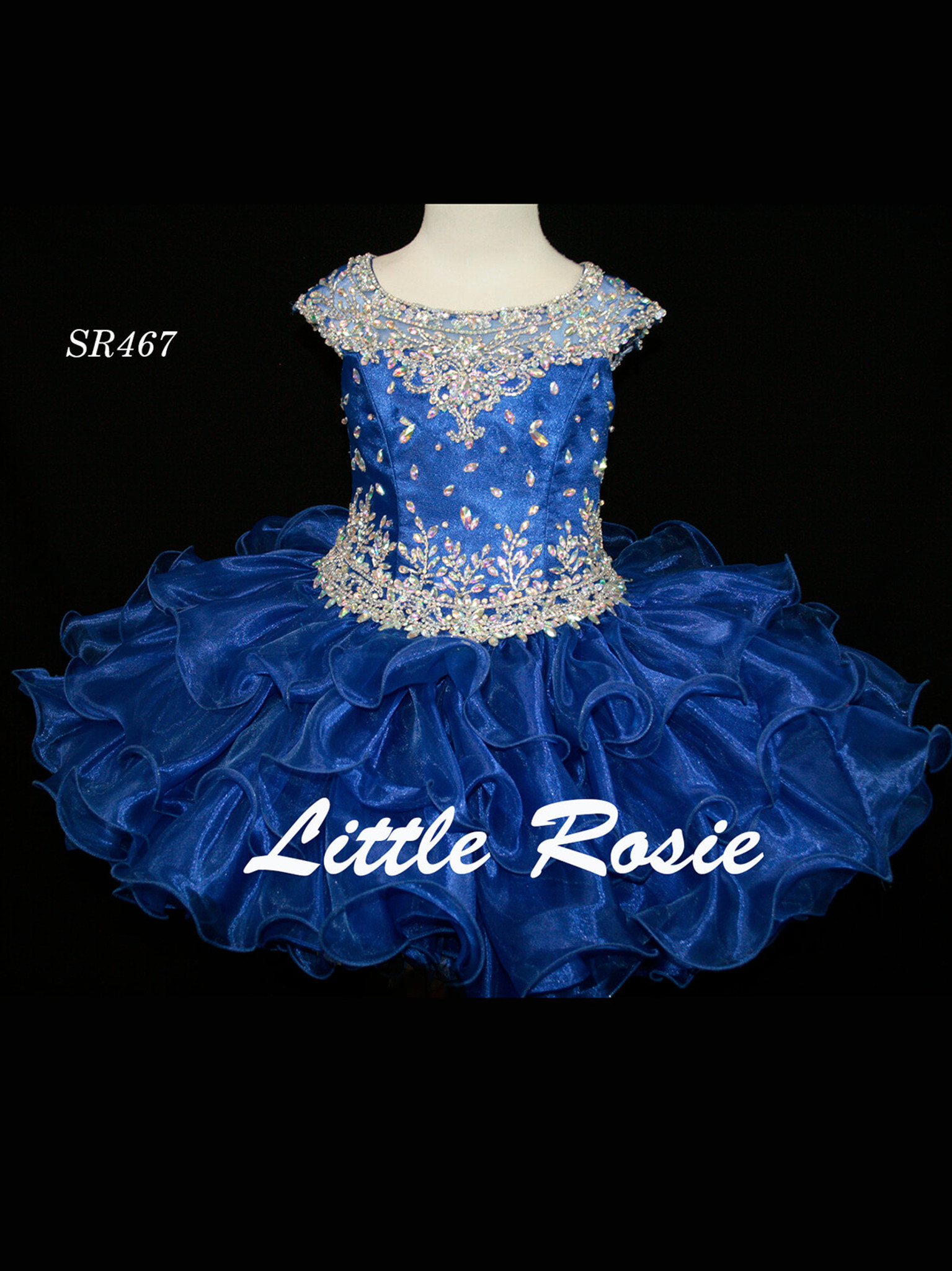 Cap Sleeved Cupcake Pageant Dress Little Rosie SR467