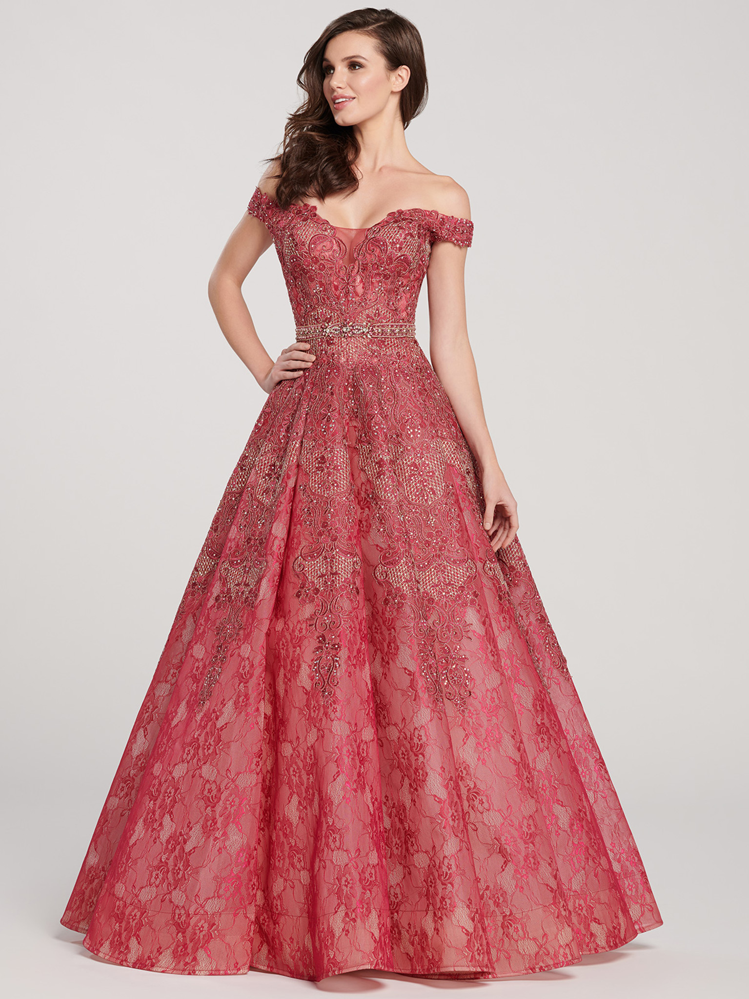 Embroidered Ellie Wilde Pageant Dress EW119027