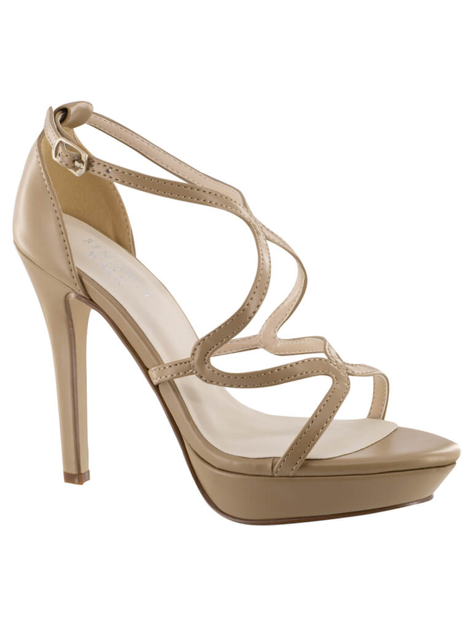 Taupe Pageant Shoes Platform Sandal Touch Ups Lennox 4459