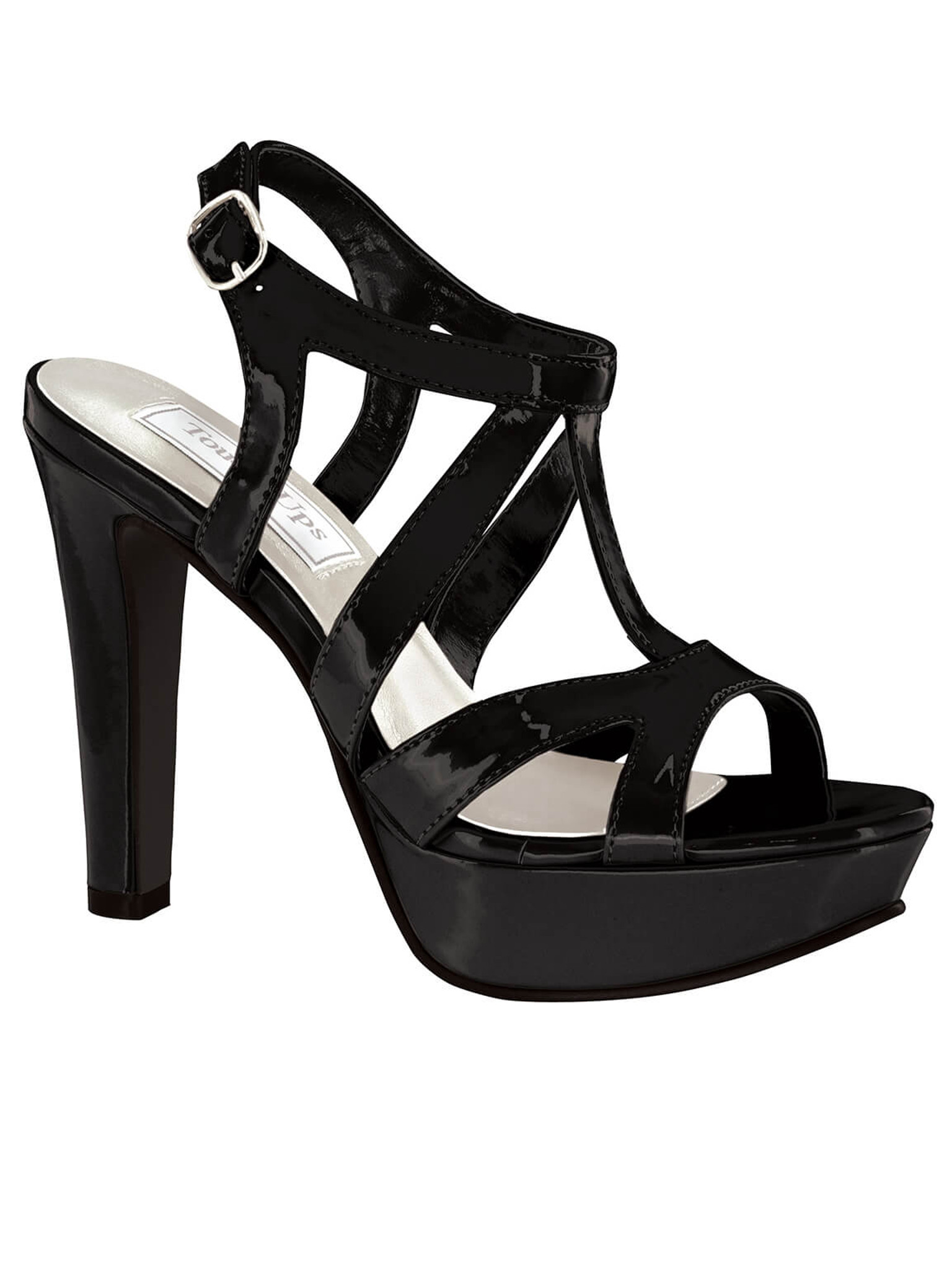 Black platform sandal shoes by touch ups queenie