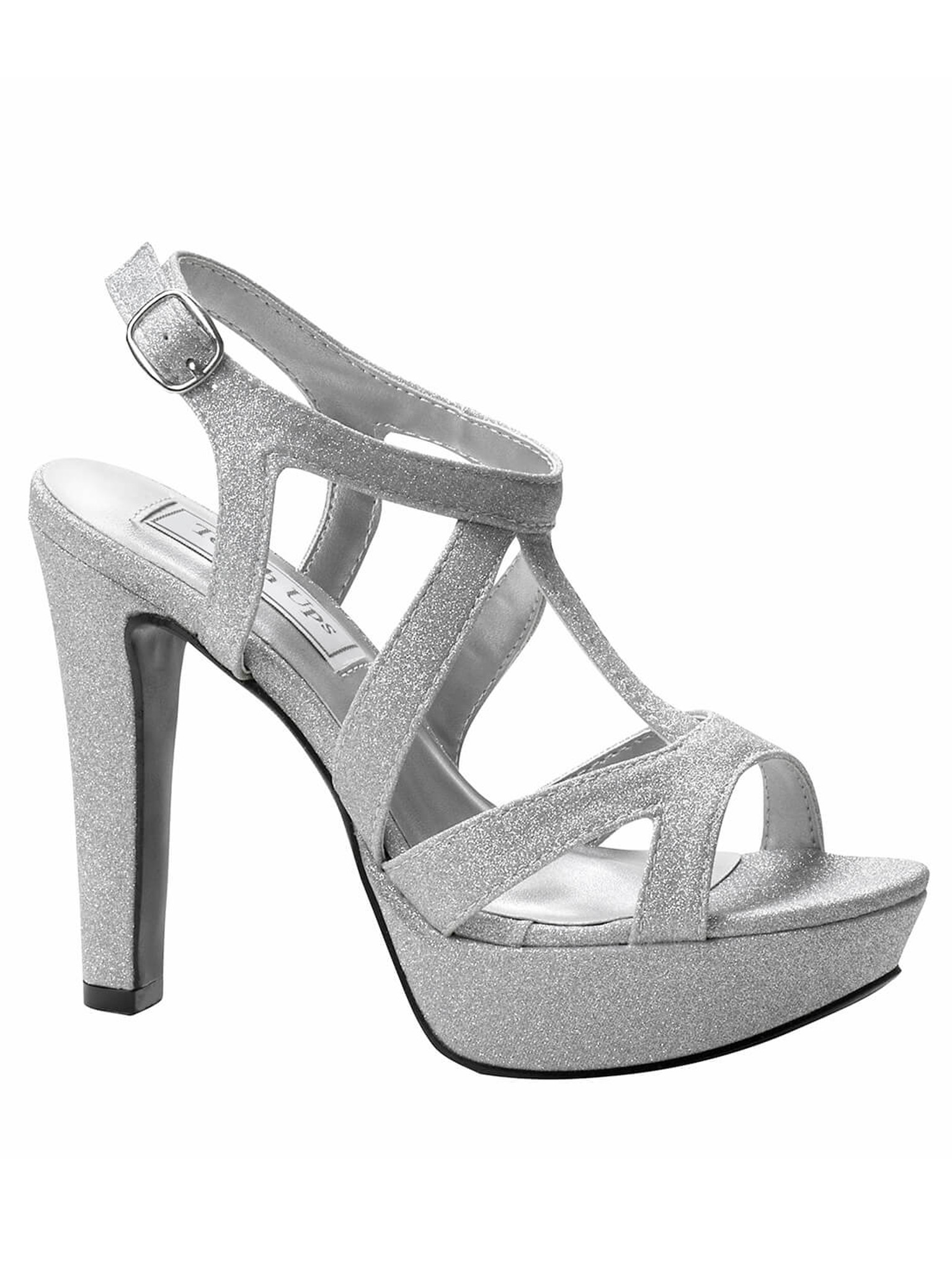 Silver platform sandal shoes by touch ups queenie