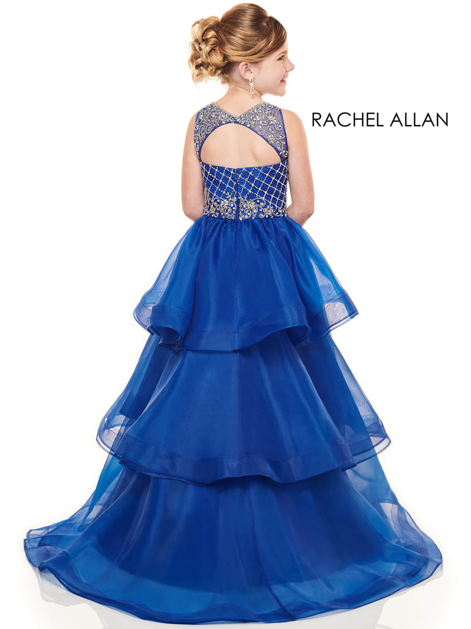 High Neckline Girls Pageant Dress Perfect Angels 1739
