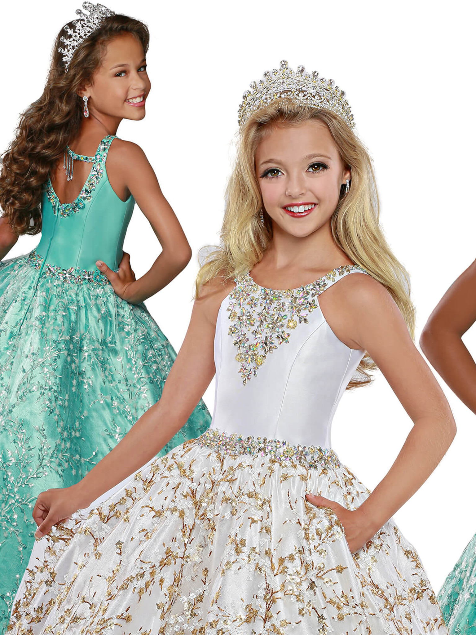 Scoop Neckline Pageant Dress Ritzee Girls 7915