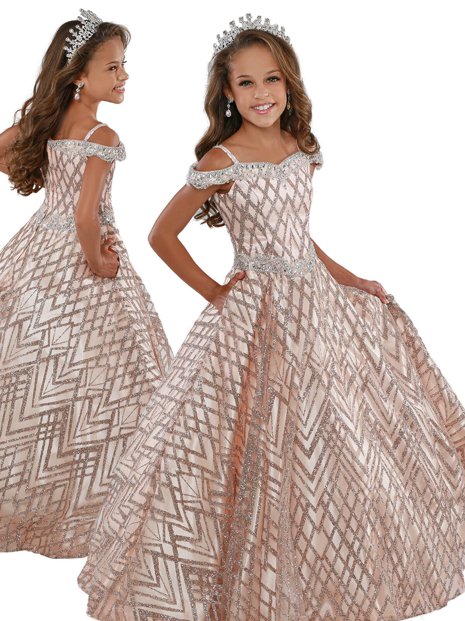 Ball Gown Ritzee Girls 7919 Pageant Dress PageantDesigns