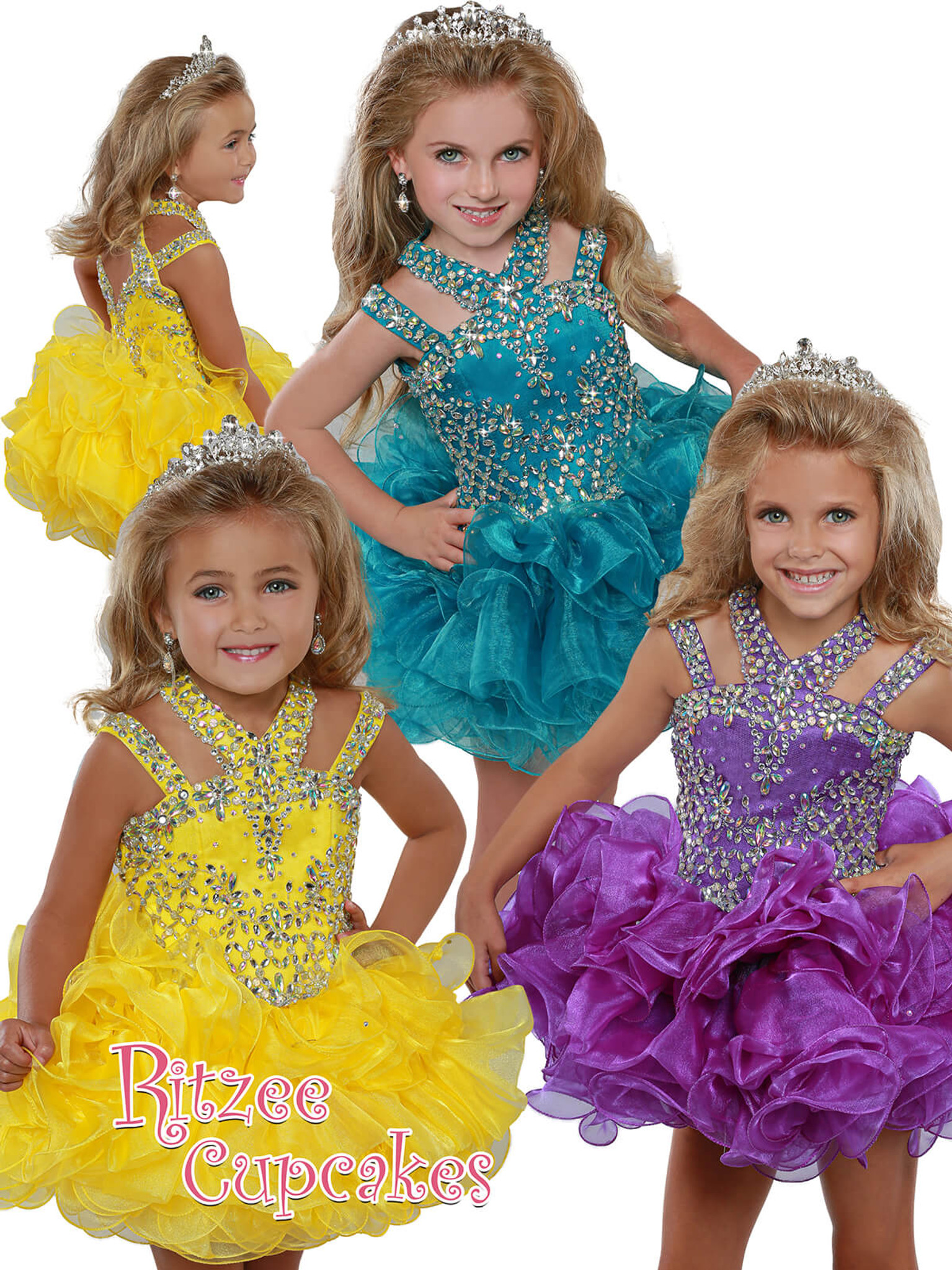Halter Cupcake Pageant Dress Ritzee Girls B279
