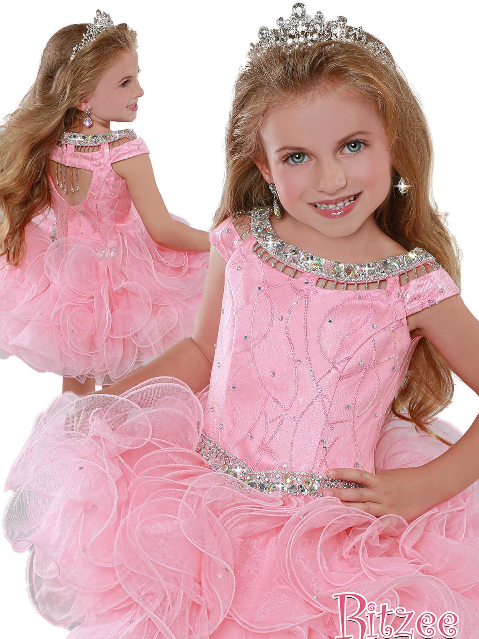 Cap Sleeves Cupcake Pageant Dress Ritzee Girls B281