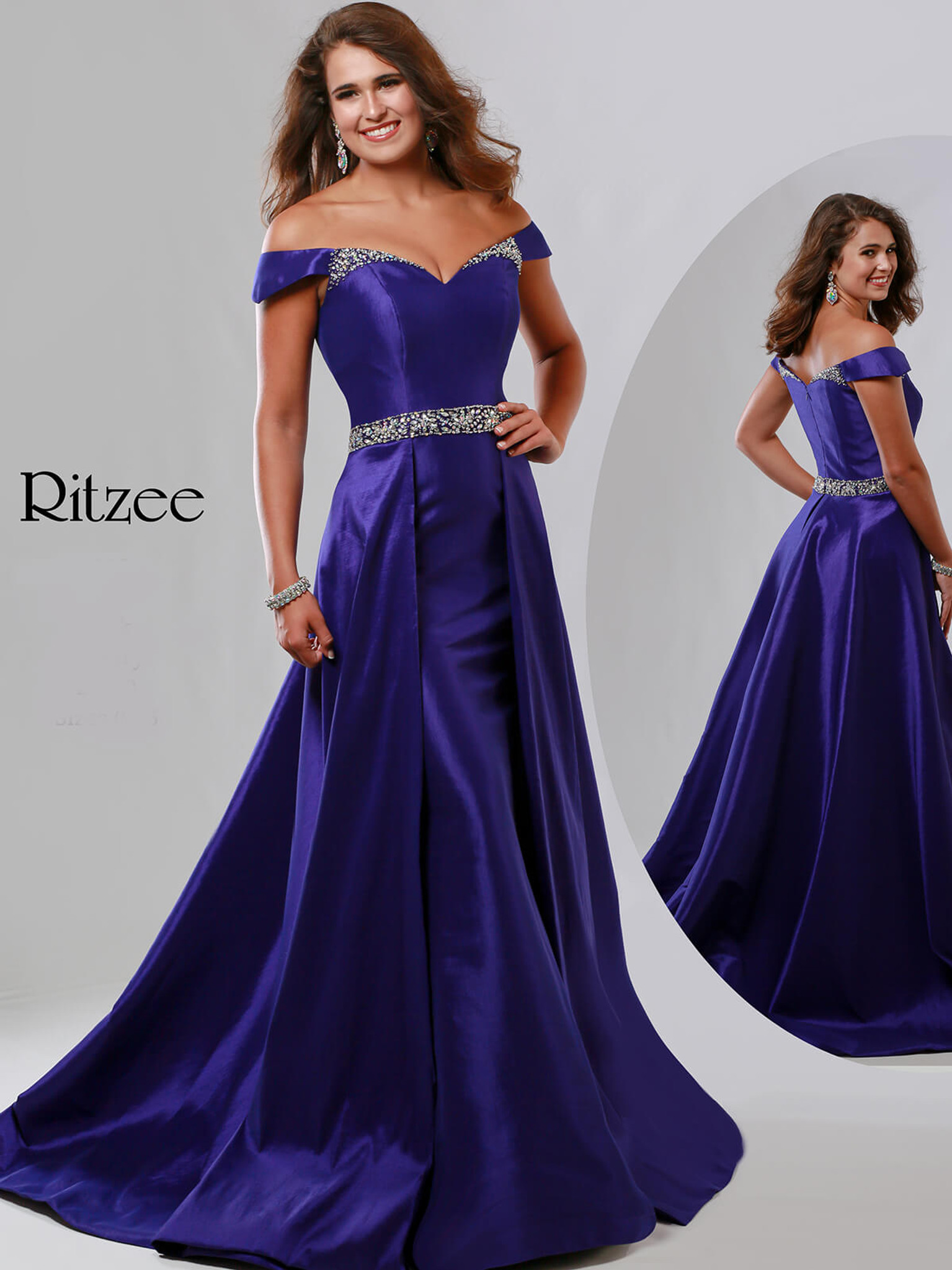 A-line Ritzee Originals 3519 Pageant Dress PageantDesigns
