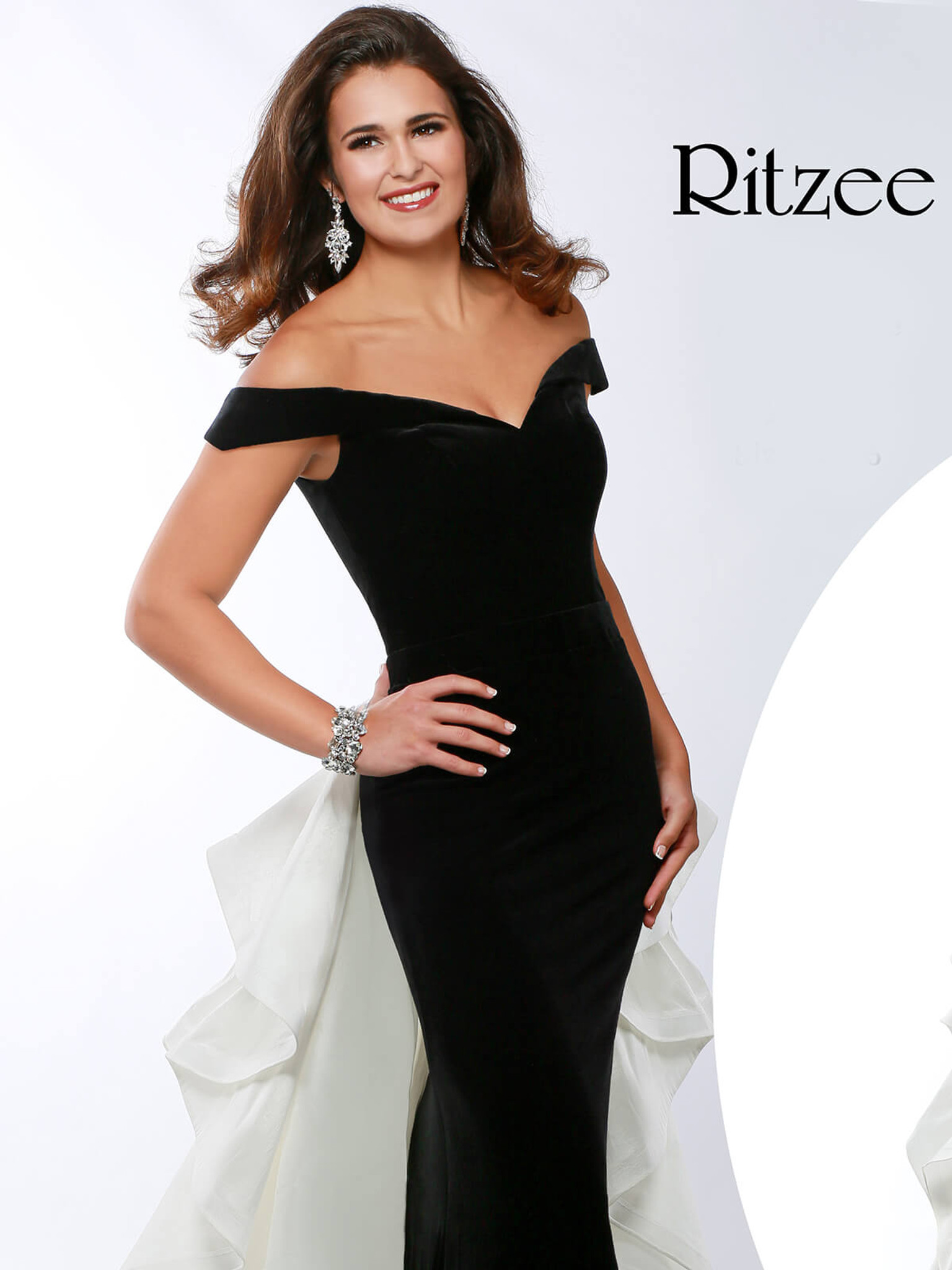 Off The Shoulder Pageant Dress Ritzee Originals 3630