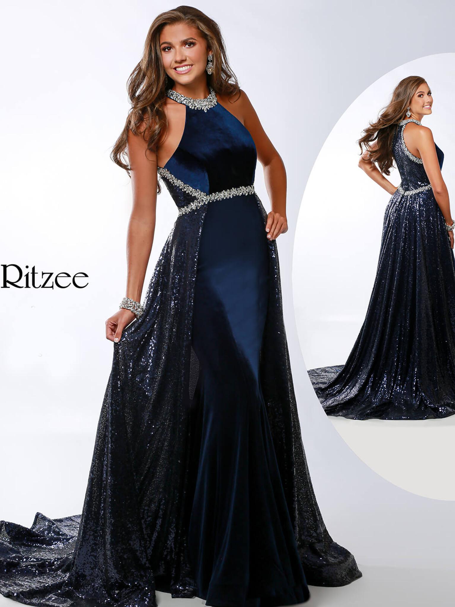 A-line Ritzee Originals 3633 Pageant Dress PageantDesigns