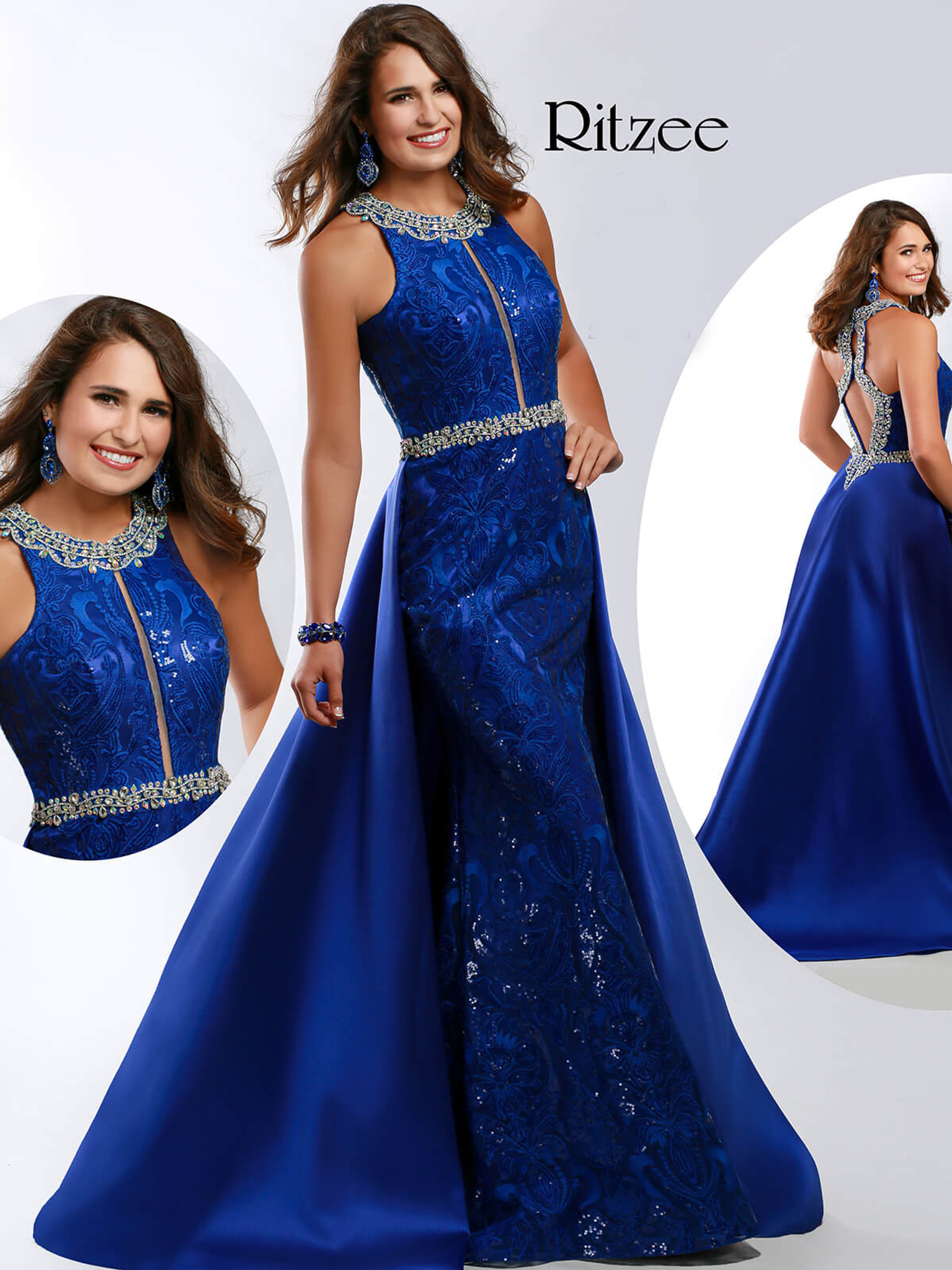 A-line Ritzee Originals 3639 Pageant Dress PageantDesigns