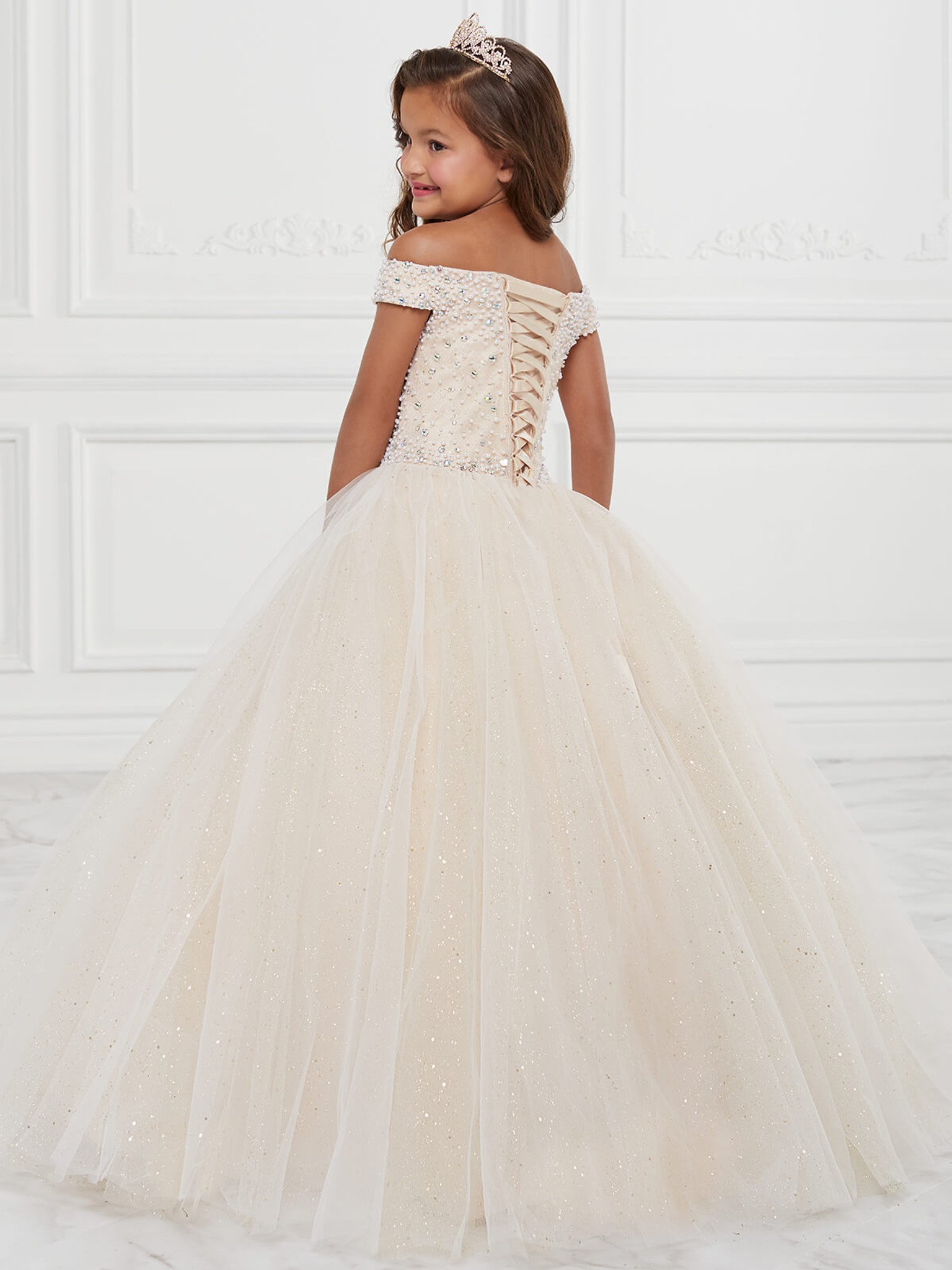 Off The Shoulder Girls Pageant Dress Tiffany Princess 13590