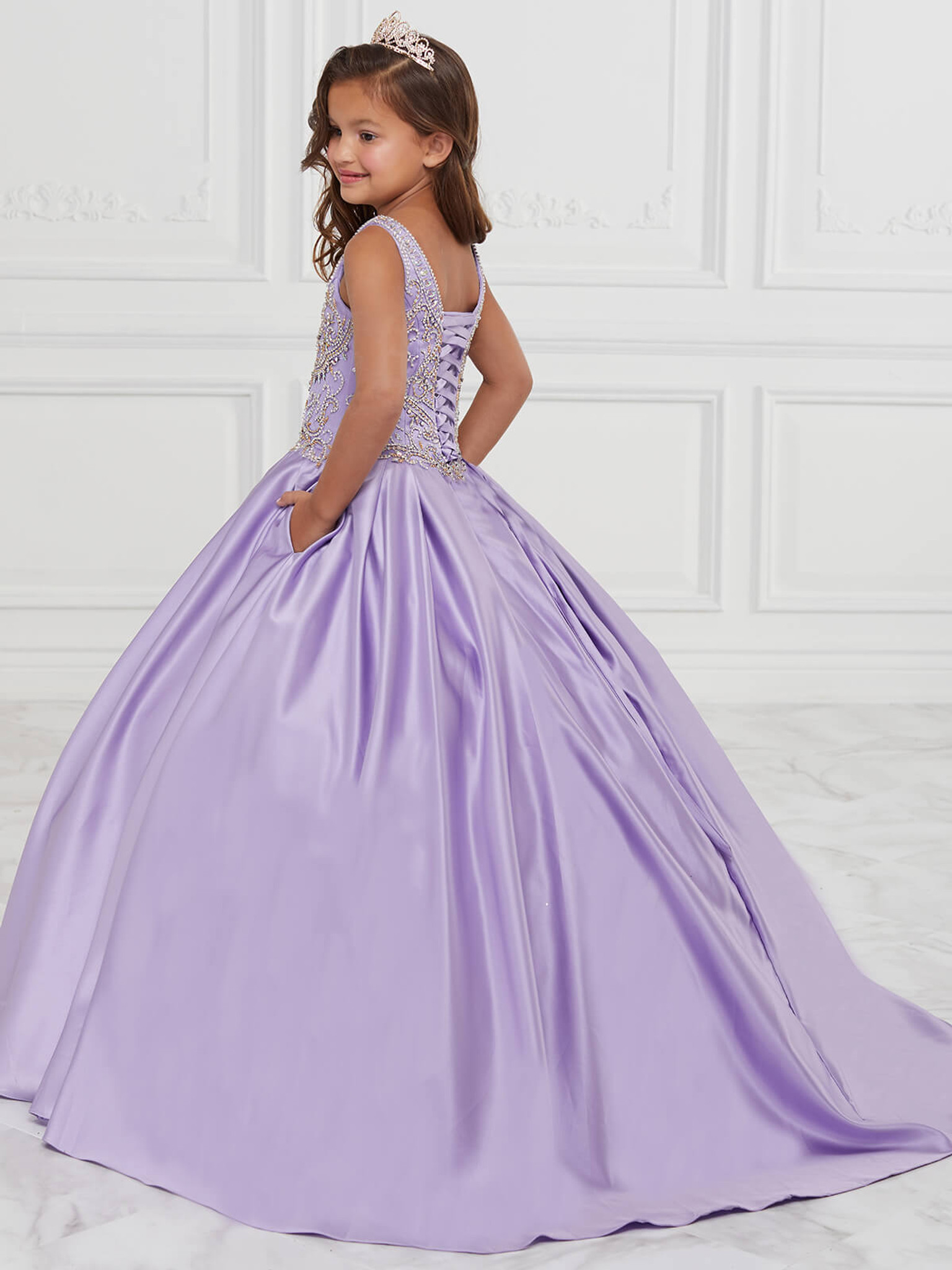 Scoop Neckline Girls Pageant Dress Tiffany Princess 13591