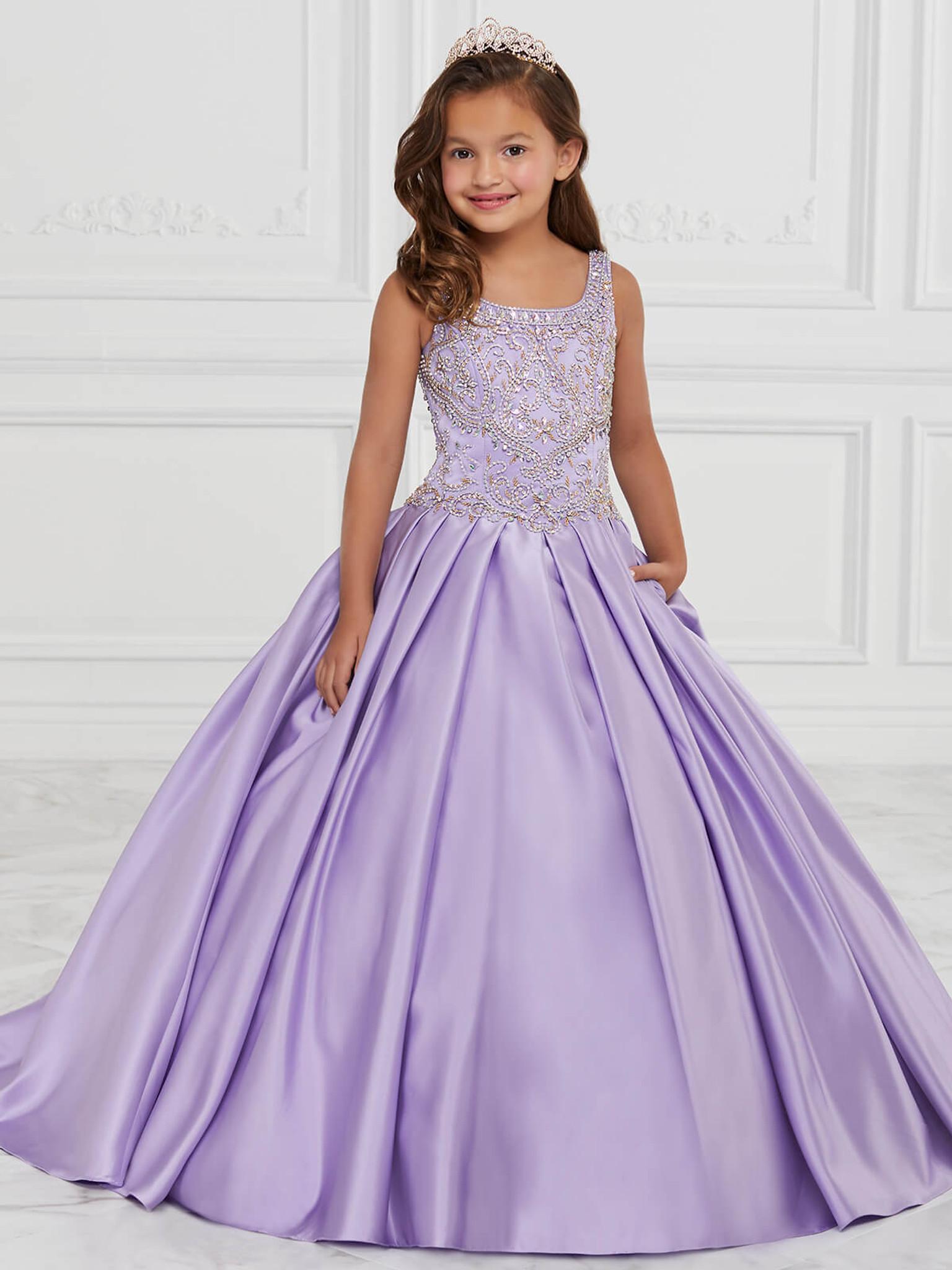 Satin Tiffany Princess 13591 Pageant Dress PageantDesigns
