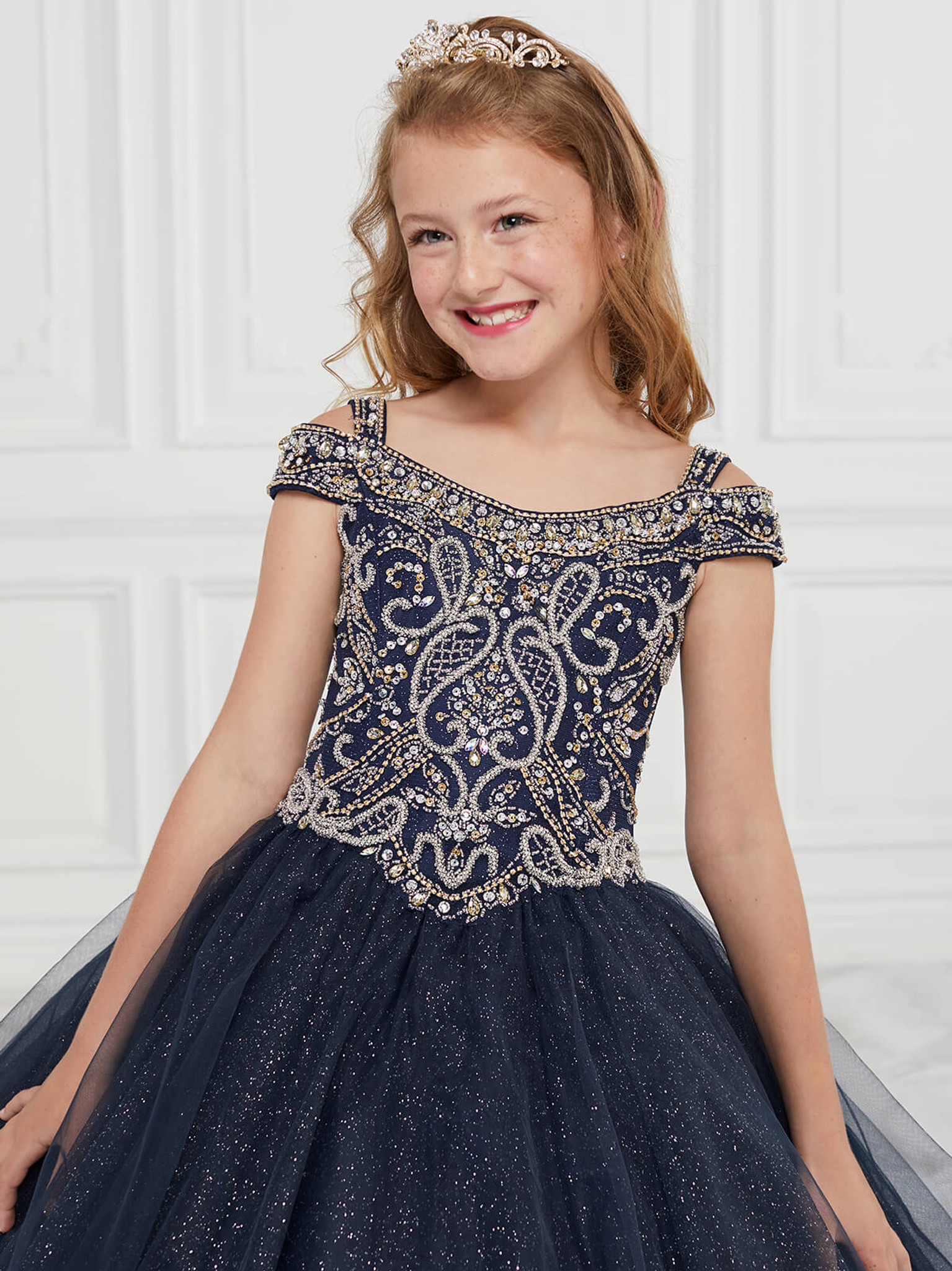 Cold Shoulder Girls Pageant Dress Tiffany Princess 13594