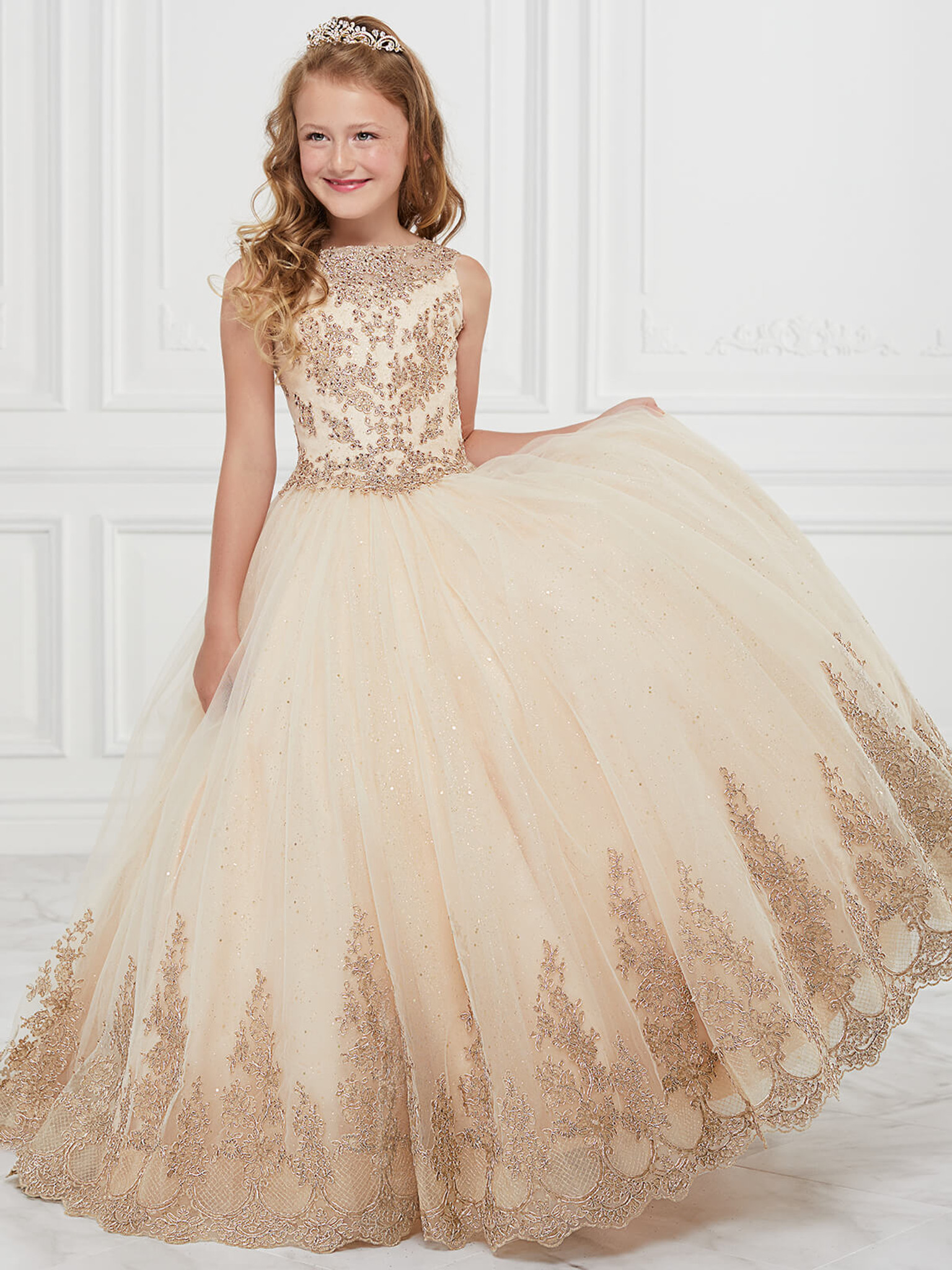 Tulle Tiffany Princess 13598Pageant Dress PageantDesigns