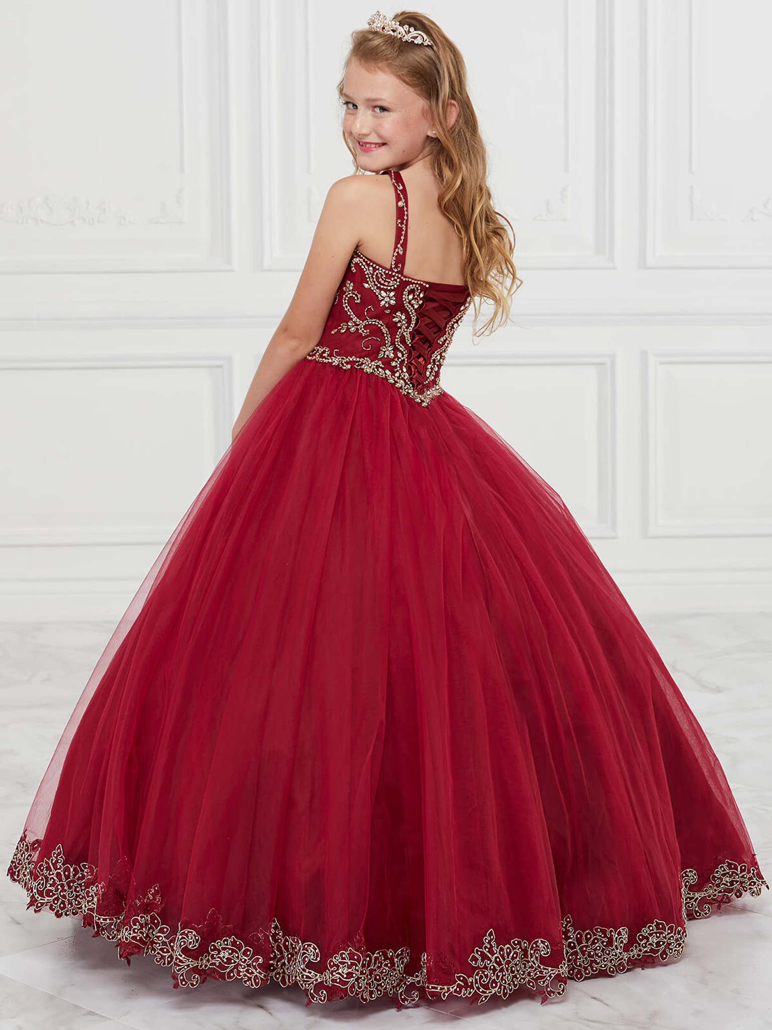 wine pageant dress for girls tiffany princess 13600