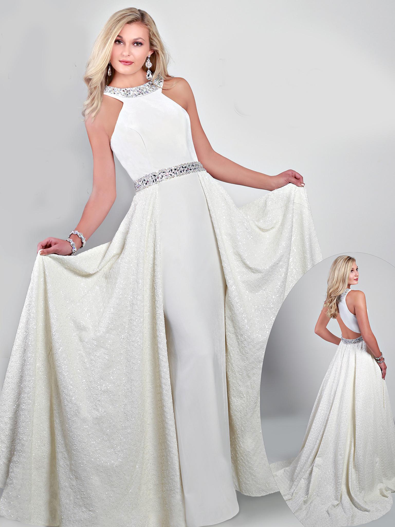 Diamond white velvet sequins ritzee originals dress 3243