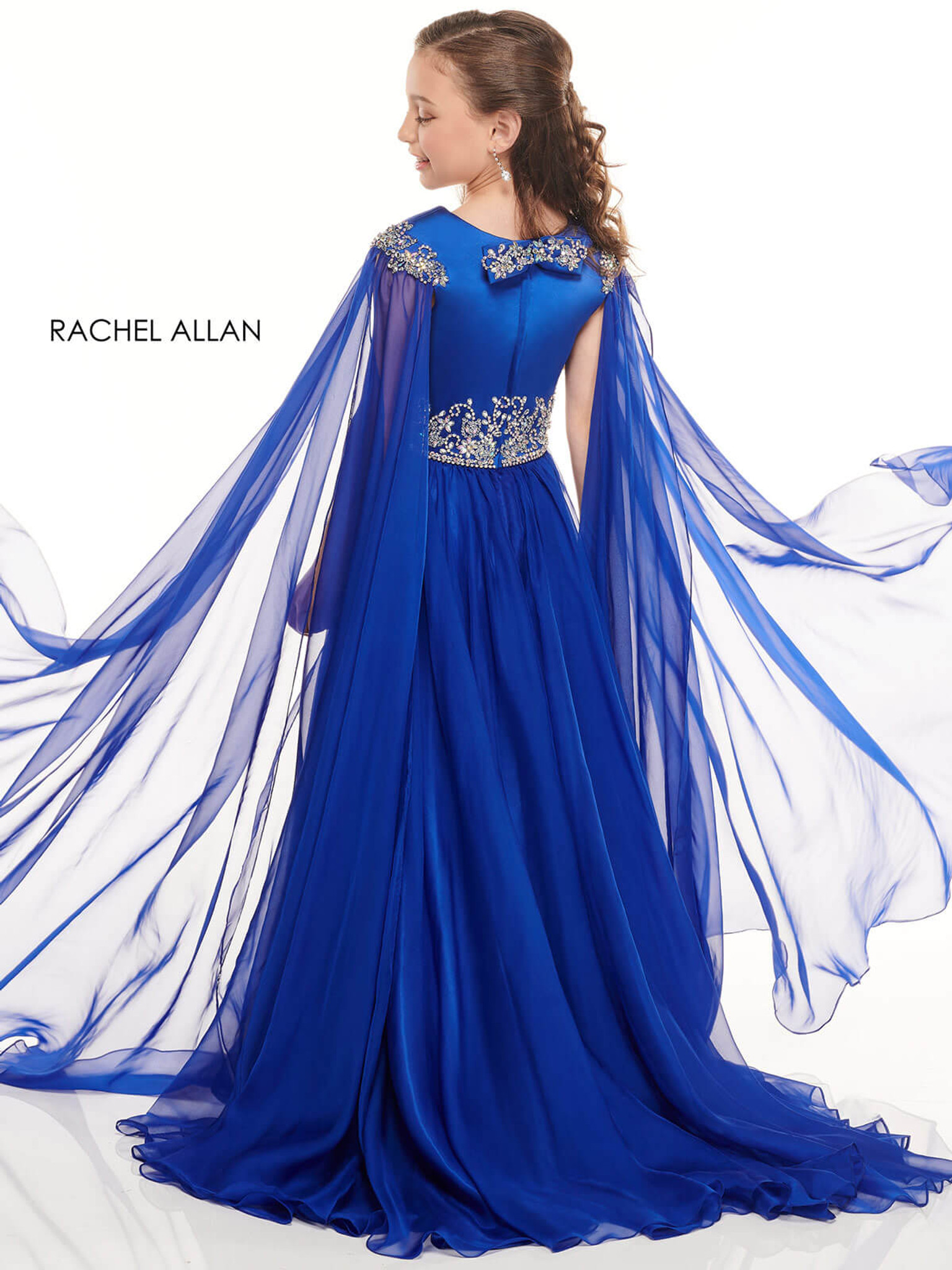 royal cape pageant dress for girls perfect angels 10001
