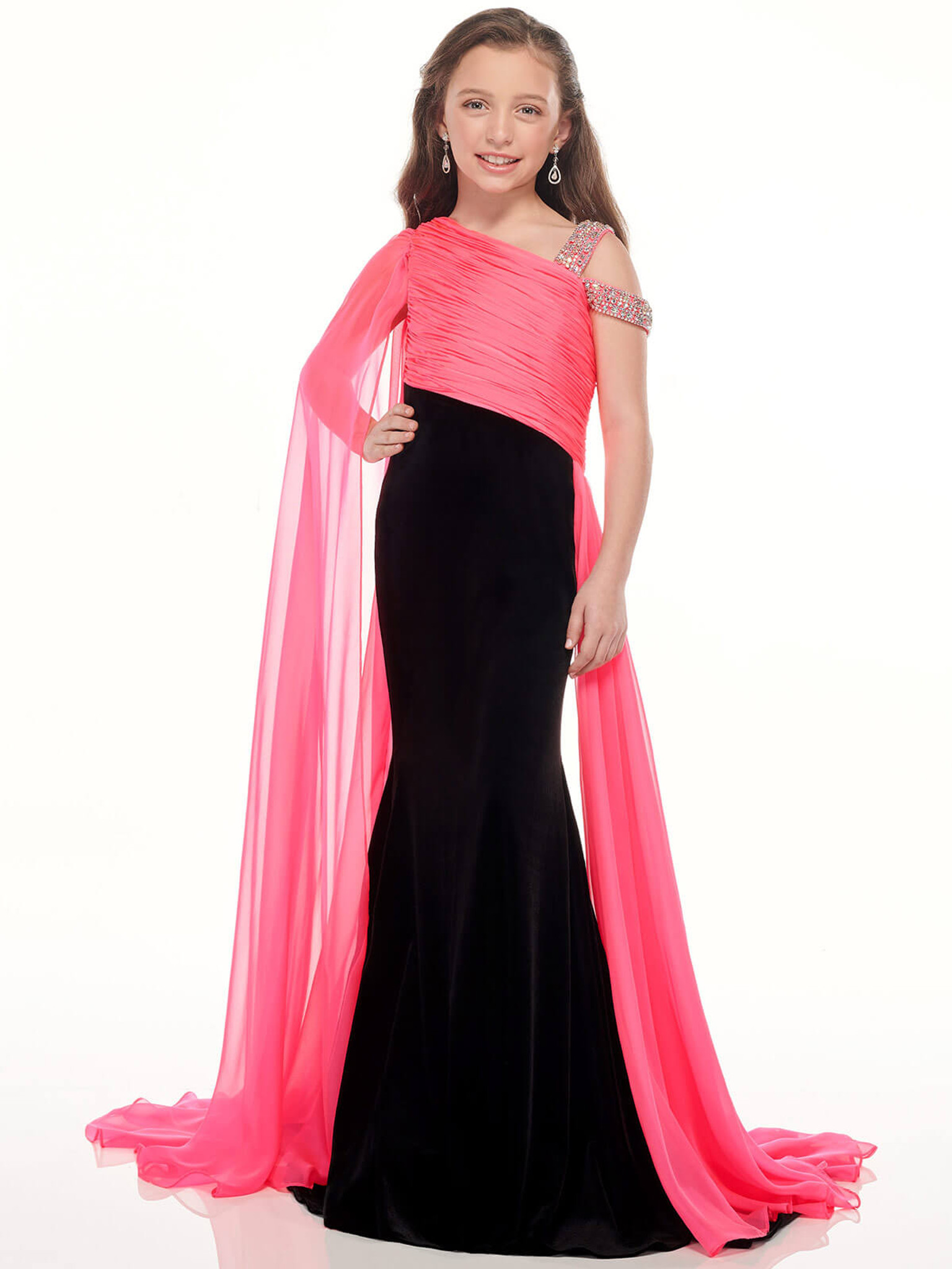 Asymmetric Mermaid Perfect Angels 10013 Pageant Dress PageantDesigns