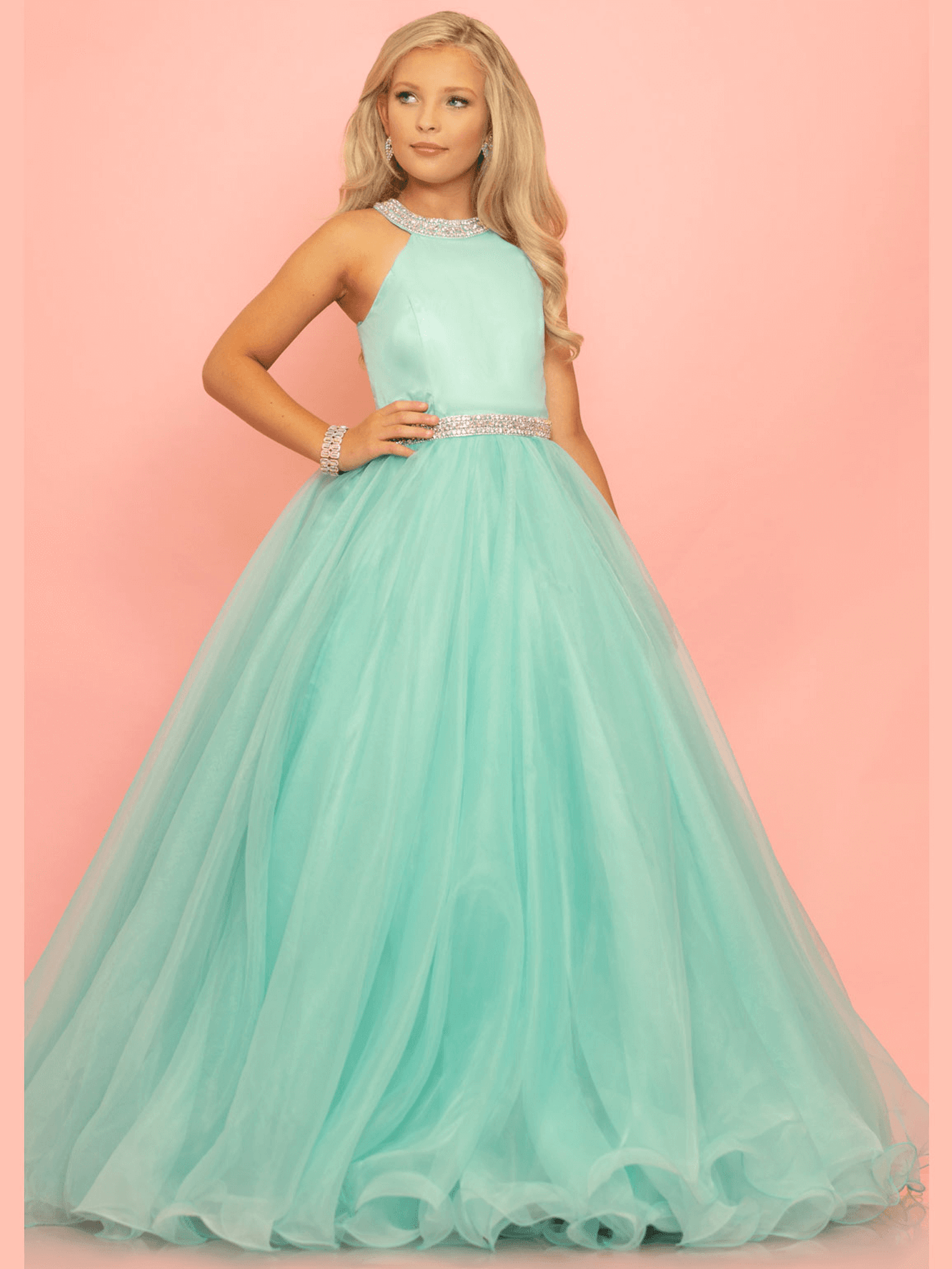 Ball Gown Sugar Kayne C114 Pageant Dress PageantDesigns
