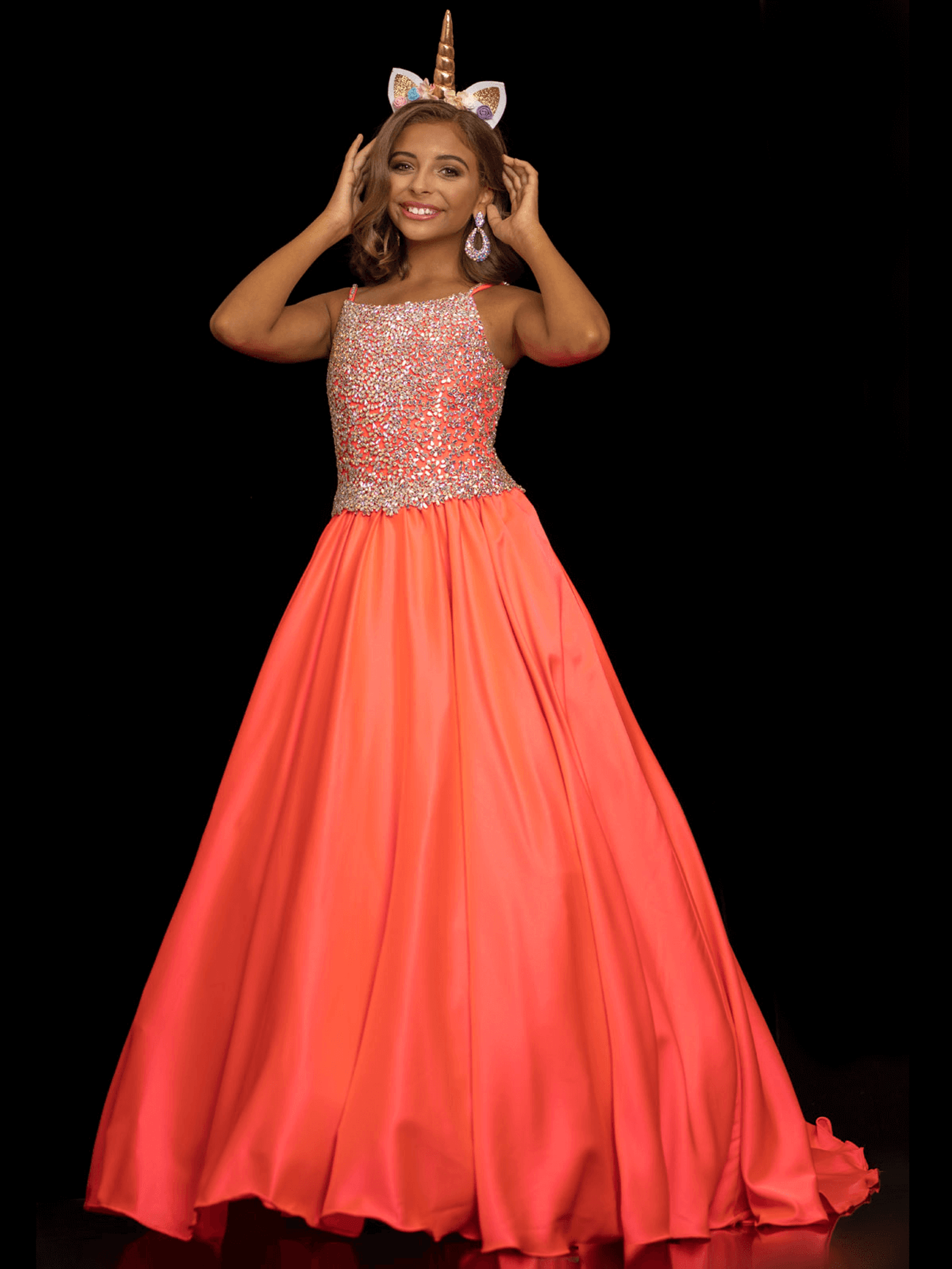 Satin Ball Gown Sugar Kayne C134 Pageant Dress PageantDesigns
