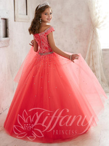 Off The Shoulder Girls Pageant Gown Tiffany Princess 13458