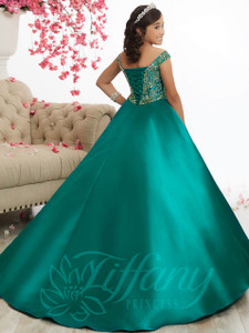Off the Shoulder Pageant Dress Tiffany Princess 13516