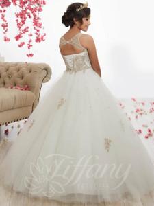 Lace Girls Pageant Dress Tiffany Princess 13523