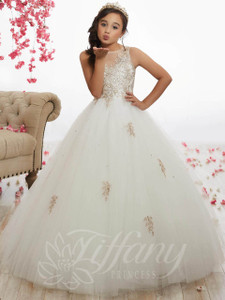 Beaded Tulle Ball Pageant Gown by Tiffany Princess 13523