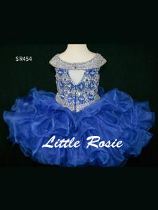 Little Rosie Hand Beaded Short Pageant Dress SR454