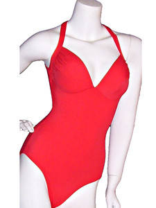 Red One Piece Pageant Lady M Swimwear Gayle