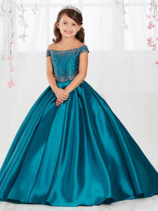 Mikado Tiffany Designs 13554 Pageant Dress PageantDesigns