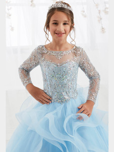 Long Sleeved Girls Pageant Dress Tiffany Princess 13555