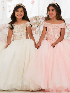 Off The Shoulder Girls Pageant Dress Tiffany Princess 13565