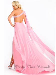 pink open back pageant dress prima donna 5658