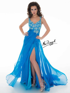 Ocean blue Royalty Pageant Dress By Mac Duggal 64511Y