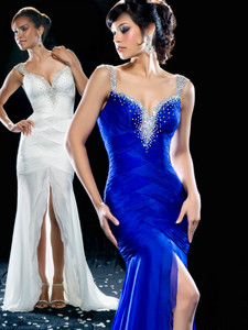 silk pageant dress mac duggal 42350P on sale