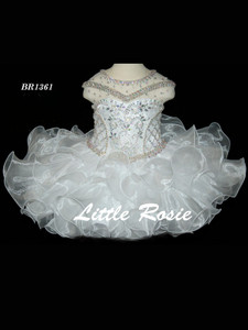 Illusion Neckline Pageant Dress Little Rosie Baby BR1361