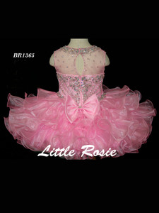 Beaded Neckline Pageant Dress Little Rosie Baby BR1365