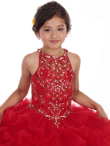 Halter Mary's Mini Quince Dress MQ4008