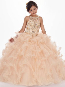 Tulle Ruffled Mary's MQ4008 Little Quince Dress