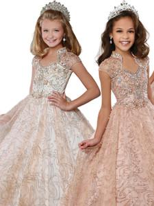 Queen Anne Pageant Dress Ritzee Girls 7809