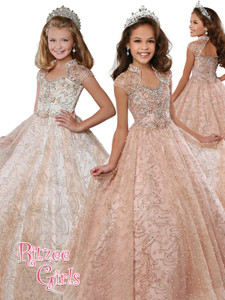 Ball Gown Ritzee Girls 7809 Pageant Dress PageantDesigns