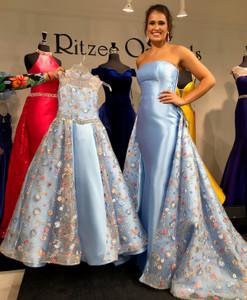 High Neckline Pageant Dress Ritzee Girls 7917