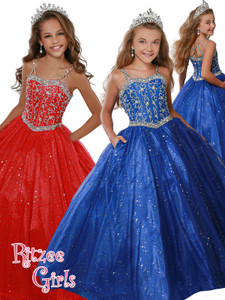 Ball Gown Ritzee Girls 7922 Pageant Dress PageantDesigns