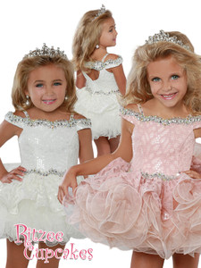 Off The Shoulder Cupcake Pageant Dress Ritzee Girls B278