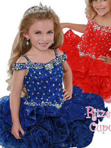 Off The Shoulder Cupcake Pageant Dress Ritzee Girls B280