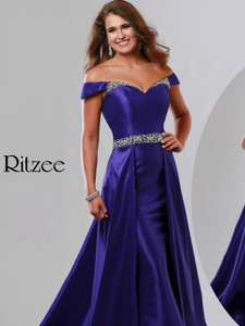 Off The Shoulder Pageant Dress Ritzee Originals 3519